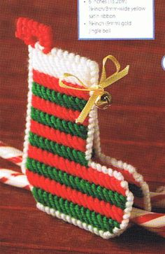 STOCKING TREAT HOLDER - Plastic Canvas Pattern. $1.00, via Etsy. - plastic canvas