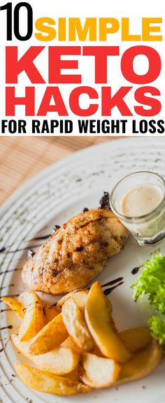10 simple keto hacks for rapid weight loss! These keto hacks and keto tips are THE BEST! I'm so glad I found these amazing keto diet hacks for weight loss! Now I can succeed on my keto journey and burn fat! Easy Ketogenic Meal Plan, Diabetic Diet Meal Plan, Diet Meal Plans To Lose Weight, Diet Plan Menu, Keto Meal Plan, Diet Plans, Best Diet Drinks, Keto Diet Guide, Paleo