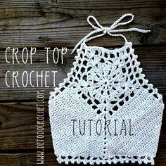 Cómo tejer un cropped top con ganchillo More [ Comment tricoter un top cropped avec crochet, Crochet Tops Archives - Page 10 of 10 - Crocheting Journal, How to Knit a Cropped Crochet Top, One day I will trust myself enough with this.Cute Crop Top: d Crochet Halter Tops, Crochet Bikini Top, Crochet Blouse, Débardeurs Au Crochet, Mode Crochet, Crochet Crafts, Crochet Projects, Crochet Summer, Patron Crochet