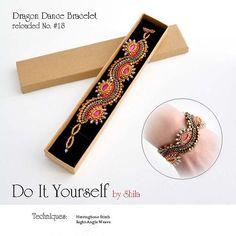 Dragon Dance Reloaded Step by step INSTANT download Pdf beading PATTERN Bracelet #18