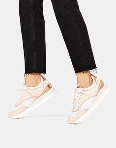 45af5d643b8d Contrasting fabric platform sneakers Platform Sneakers