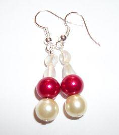3 sets Earrings Classic Cream Bridal Glass by ElizabettaJewellery