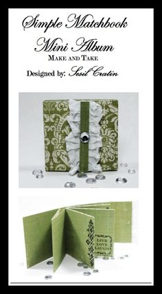 "New Teresa Collins Designs - ""Fabrications - Canvas"" Mini scrapbook Make and Take for the CHA2012w BOOTH by DT member Sesil Cratin"