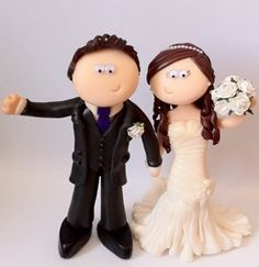 www.googlygifts.co.uk Personalised wedding cake toppers, this couple love their local drama group and met there. I can make anything you want!