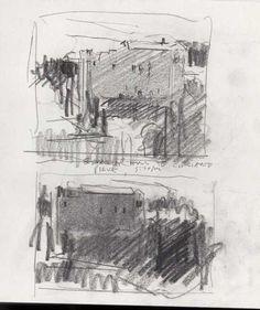 Stuart Shils: voorbereidende tonale studie voor schilderij