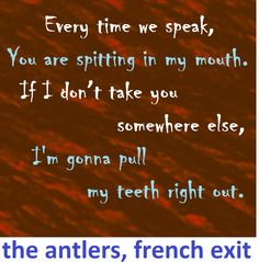 the antlers, french exit