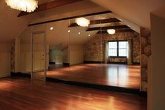 In my dream house, I would have one open room with a large mirrored wall to use for dancing and meditation.