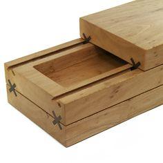 Details we like / Wooden Box / Sliding / Cross Connection / Functional / at Design Binge