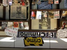 Library display for true crimes
