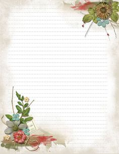 Stationary Printable, Printable Lined Paper, Printable Stickers, Papel Vintage, Vintage Paper, Journal Paper, Journal Cards, Lined Writing Paper, Writing Papers