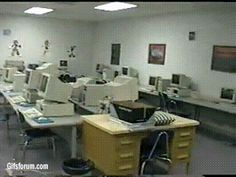 The computer room and the place where Eric and Dylan filmed the Hitmen For Hire where Eric is guarding a kid while he is on the computer Columbine High School Shooting, School Shootings, Cool Themes, Inside Me, Rare Photos, Vodka, Brain, Friendship, Kid