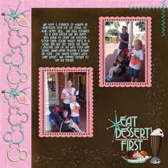Disney Vacation Scrapbook Layouts - Bing Images
