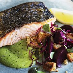 Cook this easy salmon recipe at home for a delightful healthy dinner by celebrity chefs, Will and Steve.