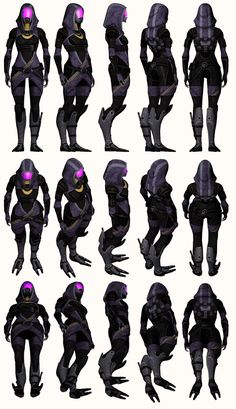Mass Effect 2, Tali - Model Reference. by Troodon80 Character Model Sheet, Character Modeling, Character Concept, Tali Mass Effect, Mass Effect Universe, Alien Concept Art, Cosplay Tutorial, Character Design References, Cyberpunk