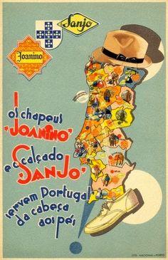 Sanjo (portuguese sport shoes brand) and Joanino (portuguese hat brand)