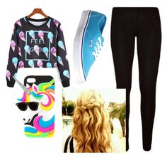 """""""Rainbow girl"""" by being-perfect-is-a-fantasy on Polyvore featuring Vans"""