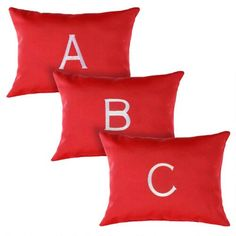 One of my favorite discoveries at ChristmasTreeShops.com: Red Monogram Indoor/Outdoor Oblong Throw Pillow