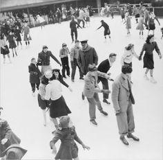 Ice skating in Rockefeller Center, December 1941