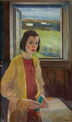 James Cowie (Scottish 1886-1956), Summer Day, oil/canvas, 1935. Collection Royal Scottish Academy of Art & Architecture.