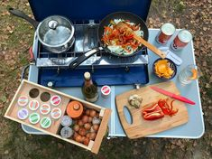 So this is what cooking really look like! This whole article is filled with cool campervan interior and conversion kitchen setups. Great resource for DIY tips, tricks and hacks when it comes to living in a van! Rv Camping Checklist, Camping Hacks, Camping Ideas, Camping Foods, Camping Humor, Camping Recipes, Best Camping Stove, Portable Stove, Kitchen
