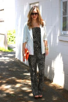 Jumpsuit + Blazer...something to try!