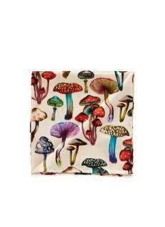 PAUL SMITHMushroom print pocket square