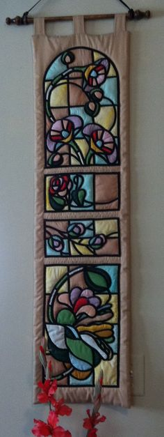 Pat Ervin - Stained glass quilt wall hanging