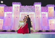 Decor # lights# effects # bride# groom flowers decor ideas by team the dream creation. team The dream creation Reception Stage Decor, Wedding Stage Design, Wedding Hall Decorations, Wedding Reception Backdrop, Marriage Decoration, Wedding Mandap, Desi Wedding, Wedding Events, Backdrop Decorations