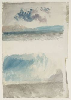 Joseph Mallord William Turner, 'Two Seascapes' c.1820-30