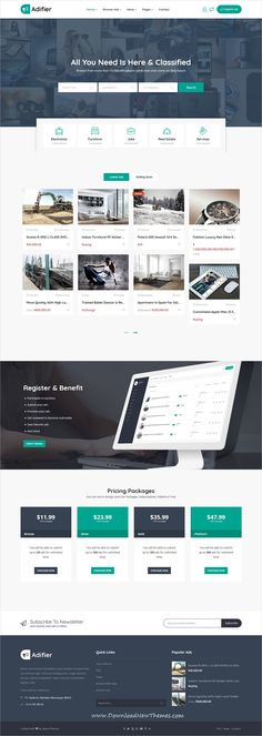 Adifier is a clean and modern design 7in1 responsive #WordPress theme for complete #classified #ads marketplace #website to download & live preview click on image or Visit