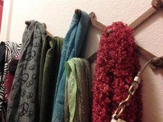 mug holder turned scarf holder!  Shabby Brocante: January 2012