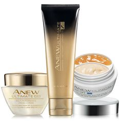 Spring for younger-looking skin with this Anew Collection! A $76 value, the collection includes: Anew Clinical Eye Lift Pro, Anew Ultimate 7S Cleanser, Anew Ultimate Day Cream Broad Spectrum SPF 25. Regularly $35.00, shop Avon Skincare online at http://eseagren.avonrepresentative.com