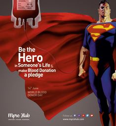 Give blood. Blood Donation, Hero, Graphic Design, World, Day, Creative, Life, The World, Visual Communication