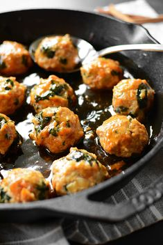 Maple Sweet Potato Chicken Meatballs - Simple Seasonal