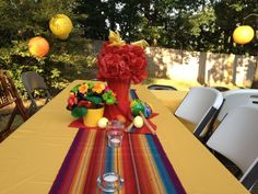 Centerpieces from a friend's Fiesta Stock the Bar party I co hosted.