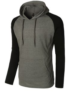 Keep it stylish with our lightweight color block raglan pullover hoodie shirt…