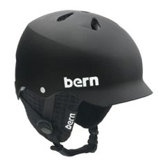Bern Watts Matte Black    The successor to Bern's original visor lid, the Watts combines a visor with top and back vents to provide a balance of airflow and style. Sun, rain and snow - you name it - the Watts defends against it.