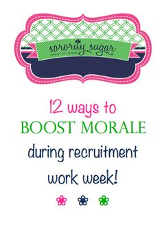 Tension runs high during recruitment rehearsals. Feelings get hurt and sisters become discouraged. Rewards and appreciation will help ease the stress! Balance your chapter's hard work with some of these 'feel better' ideas from sorority sugar. <3 BLOG LINK:  http://sororitysugar.tumblr.com/post/94730469334/sorority-q-a-emotional-work-week#notes