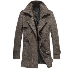 Men's Winter Coat with Belt