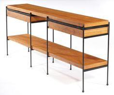 Lot 496 | Interchangable dining table/sideboard | American Modern | June 7, 2009 Auction | Los Angeles Modern Auctions (LAMA)