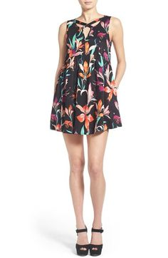 MINKPINK 'Miss Lily' Floral Print Cross Front Dress available at #Nordstrom