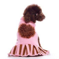 Dog Pink Sweater   #dog #dogsweater #pink http://BeesCorner.com/cupcake-sweater-dress/