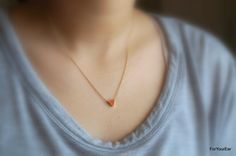 163Simple and Cute Triangle Charm Necklace II by ForYourEar