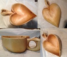 Kuksa - Love heart shape with antler inlay #dojakobwoodcraft