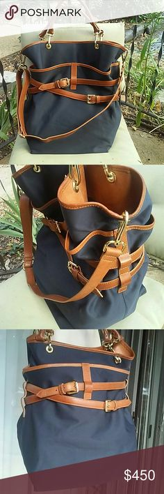 WORTH New York gorgeous authentic bag Authentic WORTH COLLECTION, LTD product,handmade from finest materials, comes with authenticity certificate card. Like new,used few times,ask for additional pictures,made in Italy,vary dark navy blue with leather trim WORTH New York Bags