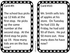 2 Step Math Task Cards - grades 2-3 Just print the task cards and you are ready to practice this difficult skill.  Work them in a center, as a whole class, small group, or a game of SCOOT!