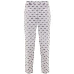 Mint Velvet Luisa Print Cotton Capri Trousers, Multi (375 PEN) ❤ liked on Polyvore featuring pants, capris, cotton pants, cotton capri pants, cotton print pants, mint velvet and capri trousers