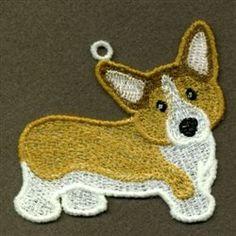 FSL Corgi embroidery design