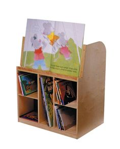 Bird In Hand Double-Sided Book Mobile - 30 x 20 x 36 3/16. - SCHOOL SPECIALTY