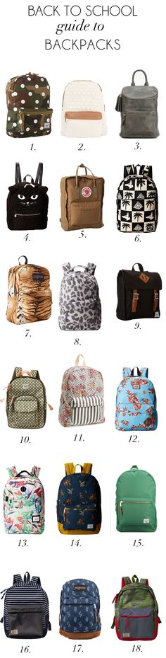 cute backpacks for kids and teens (not your typical Jansport)
